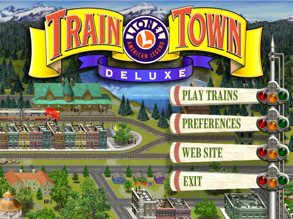 3D ULTRA LIONEL TRAIN TOWN DELUXE