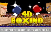 4D BOXING title screen
