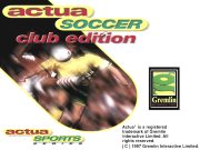 ACTUA SOCCER CLUB EDITION title screen