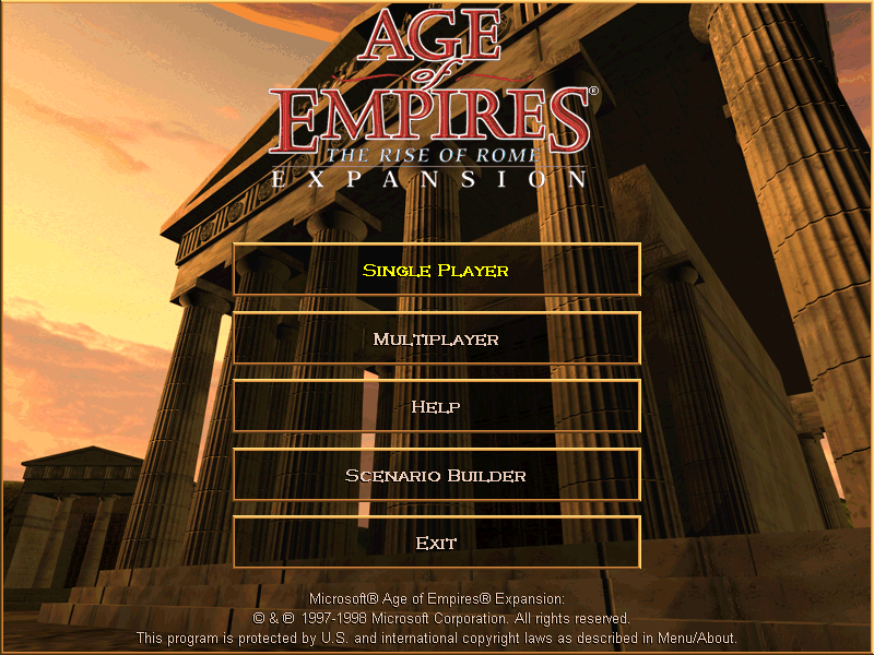 AGE OF EMPIRES RISE OF ROME game title