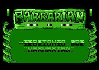 BARBARIAN title screen