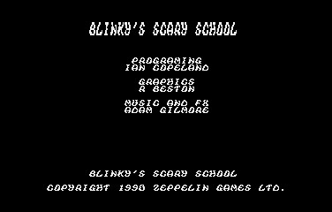 Blinkys Scary School title