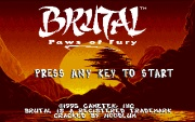 BRUTAL PAWS OF FURY title
