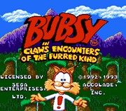 Bubsy in Claws Encounters of the Furred Kind title