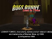 BUGS BUNNY LOST IN TIME title screen