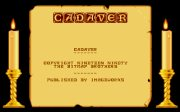 Cadaver the Payoff title