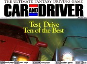 CAR AND DRIVER title screen