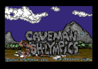 CAVEMAN UGH LYMPICS title screen