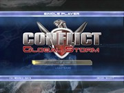 CONFLICT GLOBAL STORM title screen