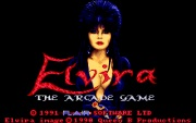 ELVIRA THE ARCADE GAME title screen