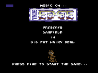 GARFIELD BIG FAT HAIRY DEAL title screen