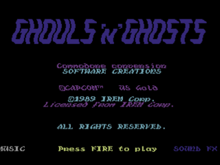 Ghouls N Ghosts title