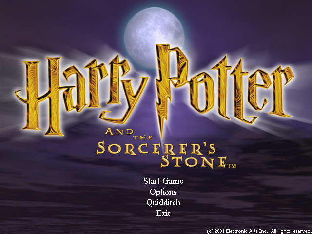 HARRY POTTER AND THE SORCERERS STONE game title
