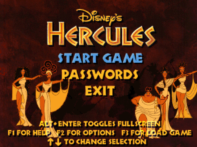 DISNEY`S ACTION GAME FEATURING HERCULES