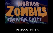 HORROR ZOMBIES FROM THE CRYPT title screen