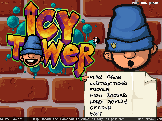 ICY TOWER game title