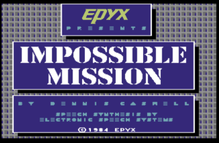 IMPOSSIBLE MISSION title screen