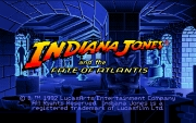 Indiana Jones and the Fate of Atlantis title