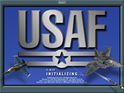 JANES COMBAT SIMULATIONS USAF title screen