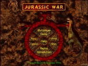 JURASSIC WAR title screen