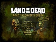 LAND OF THE DEAD ROAD TO THE FIDDLERS GREEN title screen