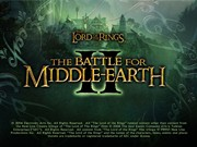 LORD OF THE RINGS THE BATTLE FOR MIDDLE EARTH II title screen