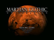 MARTIAN GOTHIC UNIFICATION title screen
