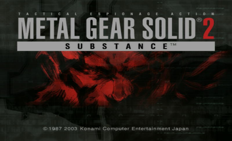 METAL GEAR SOLID 2 game title