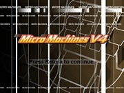 MICRO MACHINES V4 title
