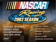 NASCAR RACING 2003 SEASON title screen
