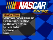 NASCAR RACING title screen