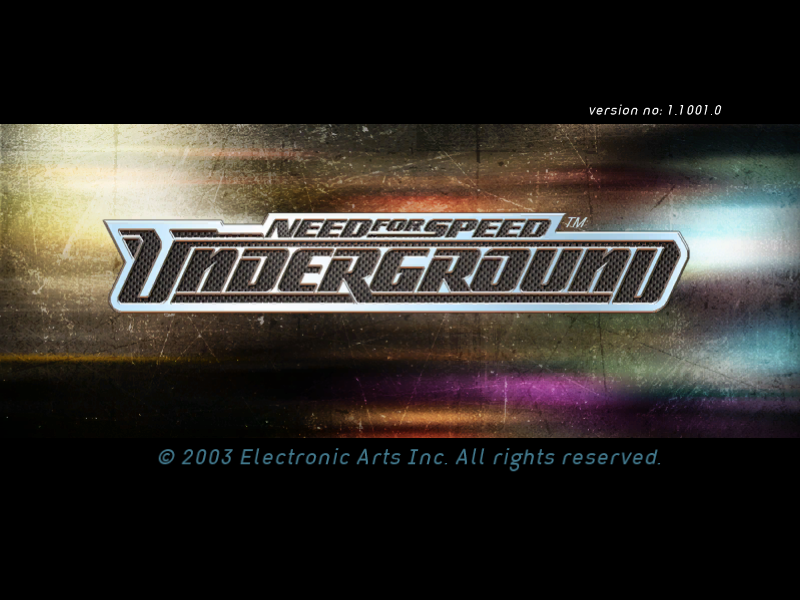 NEED FOR SPEED UNDERGROUND game title