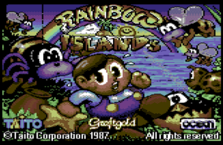 Rainbow Islands title