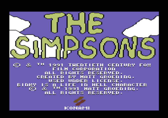 SIMPSONS - THE ARCADE GAME