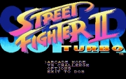 SUPER STREET FIGHTER II TURBO title screen