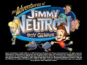THE ADVENTURES OF JIMMY NEUTRON BOY GENIUS VS JIMMY NEGATRON title screen