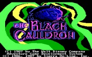 THE BLACK CAULDRON title screen