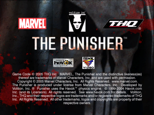 THE PUNISHER game title