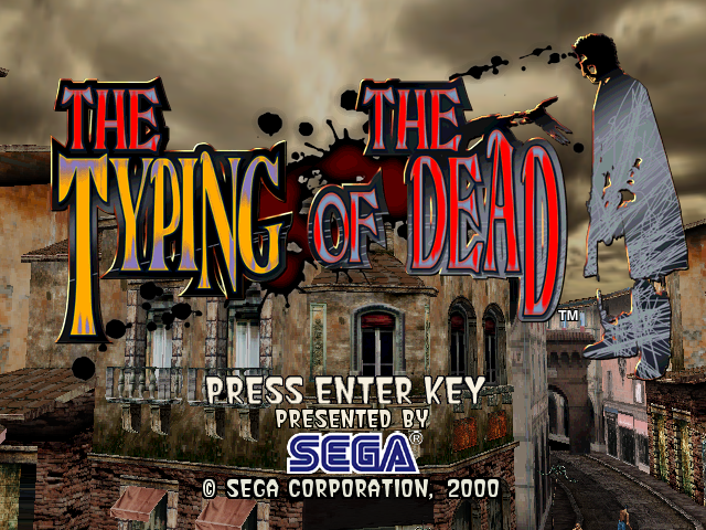 THE TYPING OF THE DEAD game title