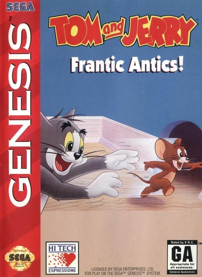 tom and jerry frantic antics