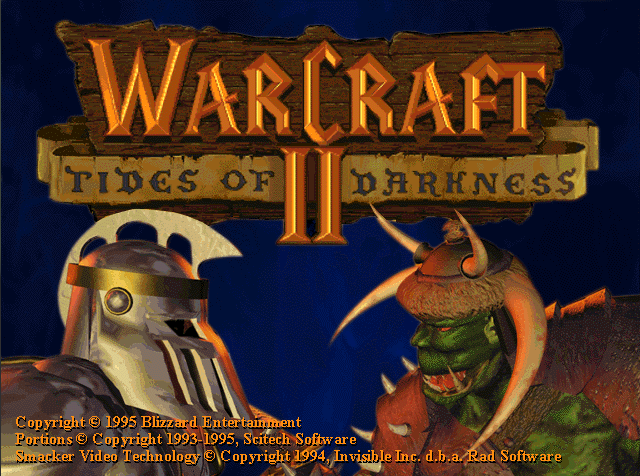 WARCRAFT II TIDES OF DARKNESS game title