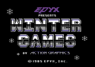 WINTER GAMES title screen