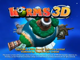 WORMS 3D title screen
