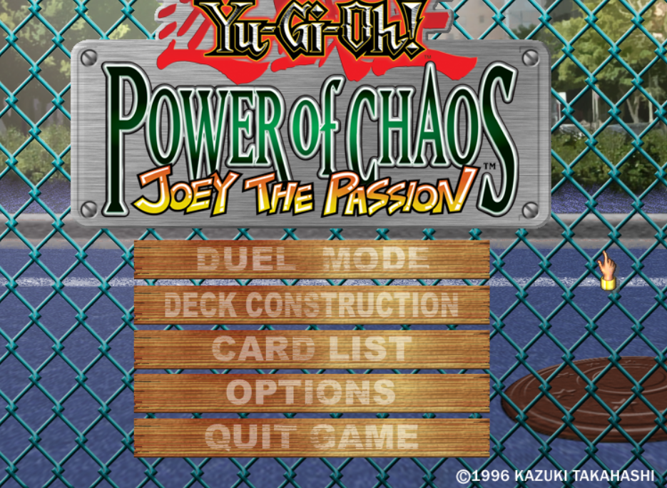YU GI OH POWER OF CHAOS JOEY THE PASSION game title